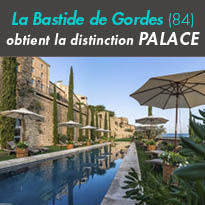 Luberon<br>La Bastide de Gordes(84)<br>obtient<br>la distinction Palace