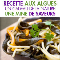 4 recettes <br>avec des algues marines<br>Un cadeau de la nature