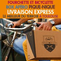 NOUVEAU<br>Toulouse<br>Les paniers Apéro<br>en Livraison express 1H