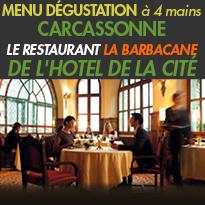 Carcassonne<br>Le restaurant la Barbacane<br>une nouvelle carte<br>et 2 soirées exceptionnelles