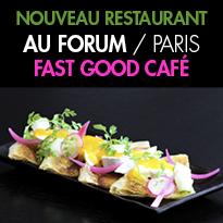 DEUX RECETTES<br>du nouveau restaurant Au Forum<br>Paris