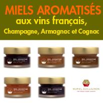 Terroir et gastronomie<br>miels aromatisés<br>aux vins