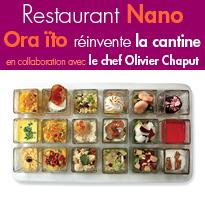 le restaurant Nano <br>Contemporain et urbain<br>un voyage vers une autre dimension gustative