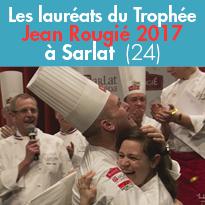 Les lauréats<br>du Trophée<br>Jean Rougié 2017<br>à Sarlat (24)