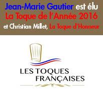 Jean-Marie Gautier<br>est élu<br>La Toque de l'Année 2016