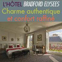 l'hôtel Bradford Elysées<br>à Paris<br> un 4 étoiles de charme