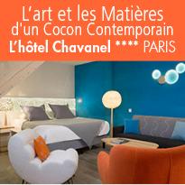 Paris<br>l'hôtel Chavanel<br>L'ART ET LES MATIÈRES<br>D'UN COCON CONTEMPORAIN