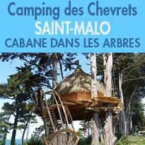 idyllique<br>Insolite<br>cabane dans les arbres<br>Saint-Malo
