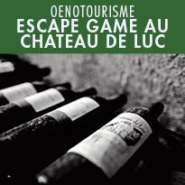 OENOTOURISME / lancement d'un escape game au Château de Luc