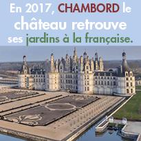Le 20 mars<br>Ouverture des jardins<br>à la française<br>au château de Chambord (41)