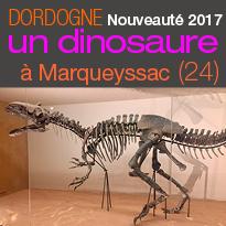 Nouveauté 2017<br>Un dinosaure<br>à Marqueyssac (24)