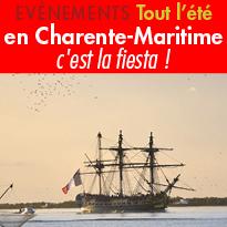 Agenda et Sorties<br>c'est la fiesta !<br>Tout l'été<br>en Charente-Maritime