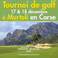 les 17 & 18 décembre 2016<br>Le tournoi de golf<br>le plus exclusif<br>de Corse