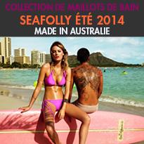 SEAFOLLY<br>collection 2014<br>de maillots de bain<br>haute en couleurs