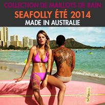SEAFOLLY<br>collection 2014<br>de maillots de bain<br>haute en couleurs