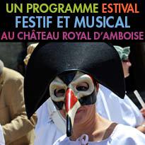 Un programme<br>estival festif<br>et musical<br>au Château Royal<br>d'Amboise