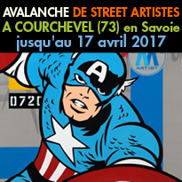Avalanche<br>de Street Artistes<br>à Courchevel  ! (73)