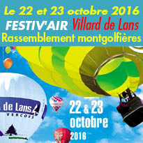 Vercors<br>Festiv'Air<br>la grande fête de l'air !<br>Villard de Lans (38)