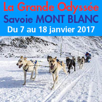 Du 7 au 18 janvier 2017<br>La Grande Odyssée<br>Savoie Mont Blanc 2016