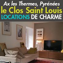 Au coeur des Pyrénées<br>à Ax les Thermes(09)<br>Le clos St Louis<br>appartements de prestige