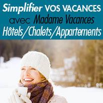 Séjours ski<br>Bons plans<br>Madame Vacances