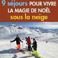 9 séjours<br>pour Fêter Noël<br>à la montagne<br>sous la neige