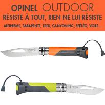 Opinel<br>Collection Outdoor<br>résiste à tout<br>rien ne lui résiste