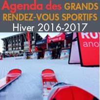 Evénements sportifs<br>Les grands rendez-vous<br>sportifs de cet hiver