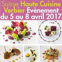 Suisse<br>Du 5 au 8 avril<br>la Gastronomie<br>prend de la hauteur<br>à Verbier !