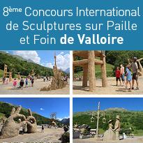 Sculptures<br>sur Paille<br>et Foin<br>à Valloire