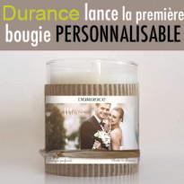 Noël 2017<br>la maison Durance<br>lance la première<br>bougie<br>personnalisable