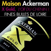 X Gold<br>FINES BULLES DE LOIRE<br> de la Maison Ackerman