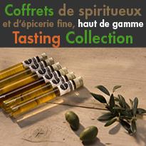 Tasting Collection<br>coffrets de spiritueux<br>et d'épicerie fine