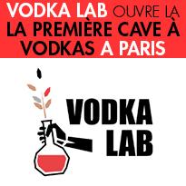 Paris<br>VODKA LAB<br>OUVRE LA PREMIÈRE<br>CAVE À VODKAS