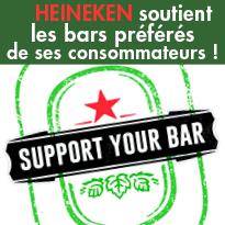 HEINEKEN<br>soutient les bars préférés<br>de ses consommateurs !
