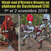 Week-end<br>d'Histoire<br>Vivante<br>au château<br>de Castelnaud (24)