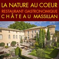 En provence<br>château Hôtel<br>château de Massillan<br>une adresse remarquable