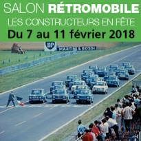 Salon Rétromobile<br>Les constructeurs en fête<br>Paris