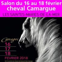 Salon<br>du cheval<br>de Camargue<br>du 16 au 18 février<br>aux Saintes-Maries-de-la-Mer