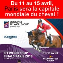Du 11 au 15 avril<br>Paris sera<br>la capitale mondiale<br>du cheval !