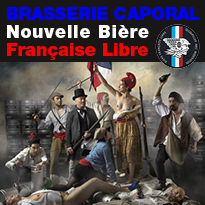 Caporal<br>Nouvelle<br>bière française<br>à la libre fraîcheur !