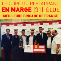 Restaurant en marge<br>meilleure<br>brigade<br>de france 2018