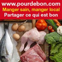 www.pourdebon.com<br>manger sain<br>manger local
