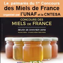 Le palmarès<br>du 1er Concours<br>des Miels de France