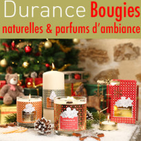Bougies<br>parfums<br>et cadeaux<br>Chez Durance