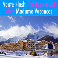 Madame Vacances<br>vente flash<br>jusqu'au 20 janvier 2019
