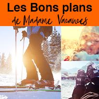 Le ski<br>chez Madame<br>Vacances<br>c'est facile !