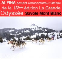 ALPINA<br>Chronométreur Officiel<br>de La Grande<br>Odyssée<br>Savoie<br>Mont Blanc