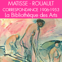 correspondance,<br>lettres d'Henri Matisse<br>à Georges Rouault