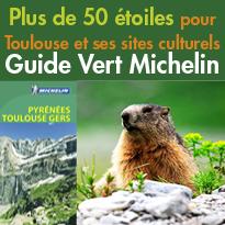 Plus de 50 étoiles<BR>pour Toulouse<BR>et ses sites culturels<BR>dans le Guide Vert Michelin